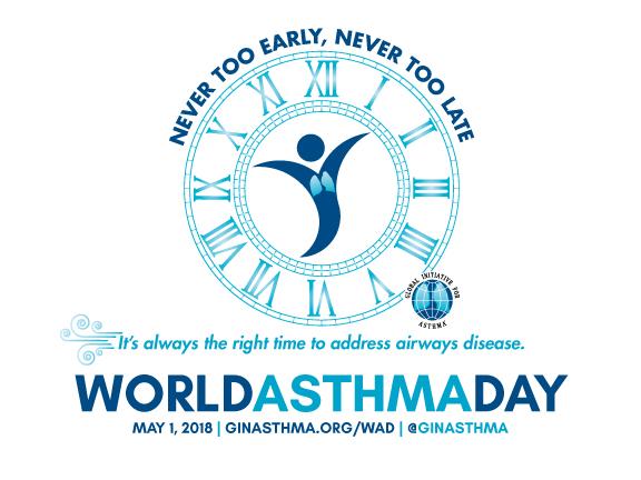 GINA logo - Maailman astmapäivä